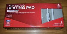"Conair Rite Aid Deluxe Moist / Dry Heating Pad 4 Heat Settings 15"" x 12"" NEW"