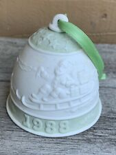 Lladro 1988 Porcelain Christmas Bell Ornament