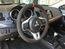 Lancer EVO10 X Ralliart suede steering wheel wrap