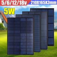 5W Monocrystalline Polycrystalline Solar Panel Module Battery Charger 5/6/12/18V