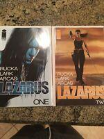 LAZARUS # 1 & 2. Greg Rucka AMAZON Series. WOW!Beautiful Copies!