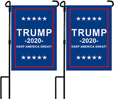 Garden Flag Stand with 2020 KEEP AMERICA GREAT Flags Banner Outdoor Yard Decor