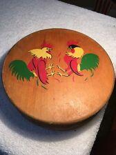 Vintage Hamburger Press Rooster Chicken  Wooden Kitchen Tool Midcentury Country