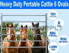 50x50 1.8M x 2.1M Heavy Duty Portable Cattle Yard Panel 6 Oval Bars 30*60mm