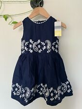 """Collette Dinnigan """"Young Hearts"""" Girls Navy with White embroidery Dress- size 4"""