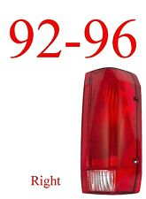 92 96 Ford Right Tail Light Assembly, F150, F250, 97 & 98 F350, Truck, Bronco