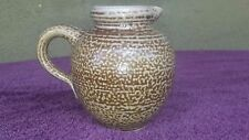"West Germany Hand Made Pottery Creamer 428 4.5"" tall"