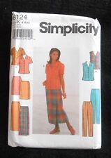 Simplicity Pattern 8124 Misses' Blouse, Skirt, Pants  Size K  8, 10, 12 - New