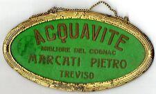 CARTONE CORNICE ACQUAVITE GRAPPA DISTILLERIA MARCATI TREVISO LIQUORI ADVERTSING