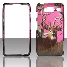 Pink Deer camo  RT for Motorola Droid Razr MAXX HD XT926 rubbrz case cover