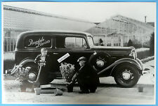 "12 By 18"" Black & White Picture 1934 Chevrolet Rosedale Flower Delivery Sedan"