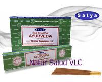 Incienso Ayurveda_Nag Champa_Satya_12 cajitas de 15g_Incense_OM_Meditación_Bhuda