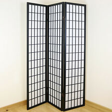 4 X White 3 Panel Shoji Folding Privacy Screen/japanese Wooden Room Divider