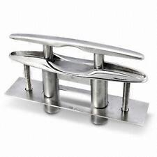 "Marine 6"" Flush Pop-UP Pull Cleat w Backing Plate Dock Boat 316 Stainless Steel"