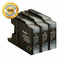 3 Pack Black Ink for Brother LC75 LC-75 MFC-J280W MFC-J425W MFC-J430W MFC-J435W