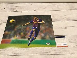 David Villa Signed Barcelona FC F.C 11x14 Photo PSA DNA COA Spain Autographed a