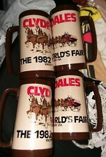 Vintage BUDWEISER CLYDESDALE 1982 WORLDS FAIR knoxville Thermal serv Beer Mug