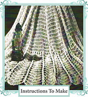 How to make a pretty water lily design lace shawl-vintage repro crochet pattern