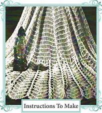 Cómo hacer un bonito Nenúfar Diseño Encaje shawl-vintage Repro de patrón de ganchillo