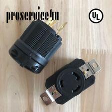 NEMA L6-30P L6-30R Plug 3 Wire 30 Amps Male Female  250V  UL Approval Safety