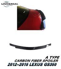 Carbon Fiber Trunk Spoiler Lip For 2012-2015 Lexus GS350 GS450h Sedan 4dr Type A