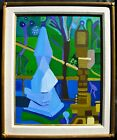 LISTED Louise Abrams Older Surreal Large Oil Painting From Her Estate #1 NO RES
