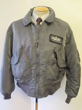 Genuine Alpha Industries CWU Flight Bomber Jacket L 42-44 Euro 52-54 - Grey