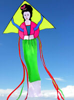Oriental Pretty Woman Kites with Flying line Outdoor Sports Kite Free shipping