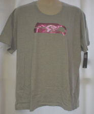 NEW WOMENS PLUS SIZE 1 X 24W  SEATTLE SEAHAWKS GRAY T-SHIRT WITH   PINK LOGO
