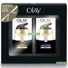 Olay Total Effects Womens Moisturiser Day SPF15 & Night Cream 37ml Duo Gift Pack