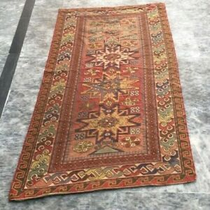 Article762 Antique Floral Handmade Aubusson Rug Needle Point Wool Kilim Rug 3x5