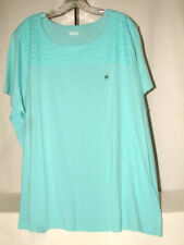 #4156 SHORT SLEEVE ROUNDED NECK BLOUSE FROM BASIC EDITIONS WOMAN, 3X, NEW!