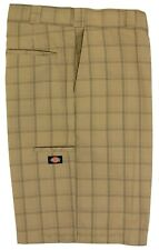 Dickies Big Men's Plaid Casual Shorts Regular Fit Sizes 44 46 48 Khaki #565D