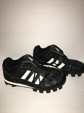 Adidas Telstar Black White Finish Line Quilted Lace Up Soccer Shoes Size 3 1/2