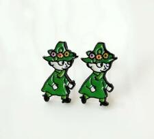 gift lovely green boy metal earring ear stud earrings studs manga  cute