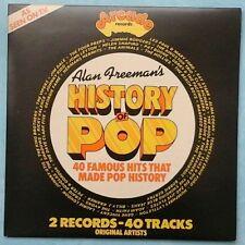VARIOUS ARTISTS ~ ALAN FREEMAN'S HISTORY OF POP ~ 1974 UK 40-TRACK 2LP SET