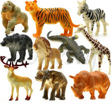 10pcs Large Simulation of A Large Wildlife Animals Sets Kids Gift Plastic Toy