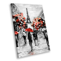 Portrait Scenic Photo Canvas Picture Print Wall Art Black White Red Paris Retro