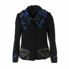 Woolen Casual Floral Coats & Jackets for Women