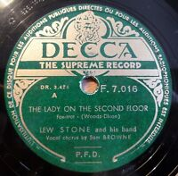 """Lew Stone - The Lady... - Nice People - DECCA - /10"""" 78 RPM"""
