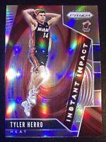 2019 Prizm Instant Impact Silver Holo Prizm Tyler Herro Rookie #1 Miami Heat!
