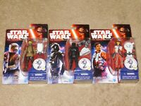 SET OF 3 STAR WARS THE FORCE AWAKENS ACTION FIGURES (New In Packages)