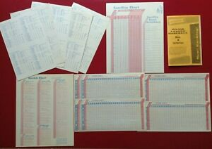 Lot of Parts NEGAMCO'S 1966 Major League Baseball Game ~ Roster ~ Charts ~ Rules