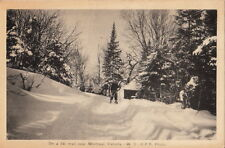 Postcard On a Ski Trail Montreal Canada