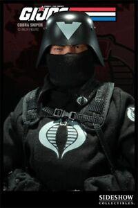 SIDESHOW COLLECTABLES G.I. JOE V1 Cobra Sniper Black Ops Trooper