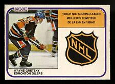 1981-82 OPC 1981 O-PEE-CHEE~#384~WAYNE GRETZKY~BACK PRINT FREAK VARIATION