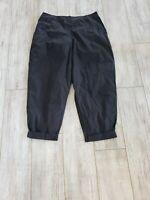 NWT $309 Oska Jeans Wide Leg Black Elastic Waist Hose Tertia S 5 Pants w Pockets