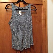 Isabel Marant SZ 2/M Blue & White Silk Tank Top T Shirt