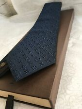 ✨SUPREME✨1👀% AUTHENTIC LOUIS VUITTON RELIEF 3D NAVY BLUE TIE