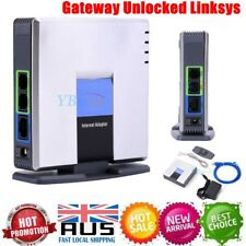 NEW 2 Port SIP Gateway Unlocked Linksys Cisco PAP2T Voip Phone Adapter AU SALE